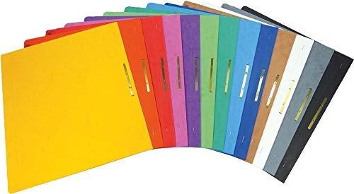 Brunnen Schnellhefter Pappe extrastark - GROßPACK bunt - 13 Stück bzw. Farben im Pack - für Schule, Job, Büro und zu Hause (Gefaltet Bund)