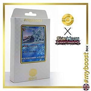 Alolan Ninetales (Ninetales de Alola) 28/147 Holo Reverse - #myboost X Sun & Moon 3 Burning Shadows - Box de 10 cartas Pokémon Inglesas