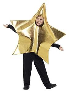 Smiffys-45484 Disfraz De Estrella Brillante con Tabardo, Color Oro, Tamaño único (Smiffy