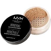 NYX Professional Makeup Polvos fijadores Mineral Finishing Powder, Polvos sueltos, Acabado mate, Absorbe brillos, Fórmula vegana, Tono: Medium/Dark