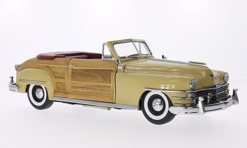 chrysler-town-country-beige-effet-bois-1948-voiture-miniature-miniature-deja-montee-sun-star-118