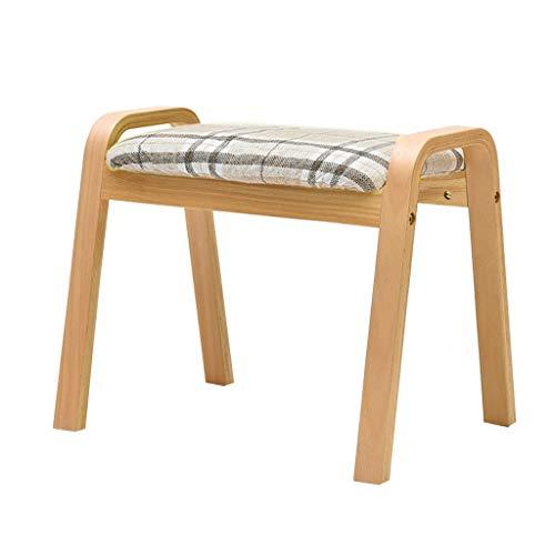 XSJ-Repose-pieds Leinenstoff Niedrige Hocker Osmanische Fußstütze Hocker Gepolsterter Hocker Schuhe wechseln Kleiner Stuhl Makeup Hocker Abnehmbare Bettwäsche Wohnzimmer Schlafzimmer -