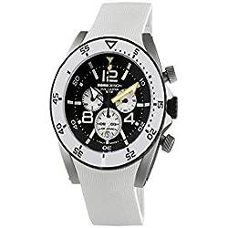 MOMO Design MD281-01BKWT-RB - Reloj para hombres, correa de goma color blanco