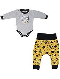 MROFI Conjunto de Ropa de bebé Traje Deportivo Unisorn de algodón Unisex Body con Pantalones para niñas y niños Muchos Colores 68 74 80 86