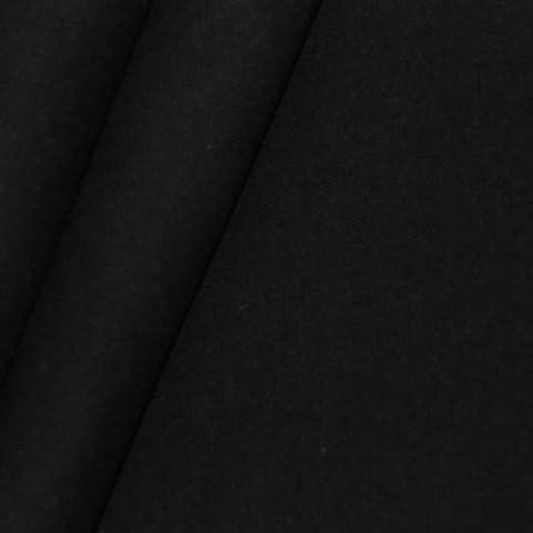 Tissus en molleton de décoration B1 / M1 largeur 300cm couleur: Noir