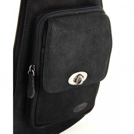 Charmoni–Tasche (Holster Taschen Leder Rindsleder für Herren Neu Vernon Schwarz - Schwarz