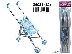RAMA TRITTON- Silla MUÑECA DE Metal Azul Plegable 18,5X53X45 CM, (36084)