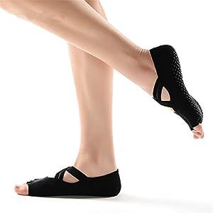 Maybesky Yoga Socken Cross mit Anti-Rutsch-Socken Anti-Rutsch-Boden-Socken Pilates, Anti-Rutsch-Slip-Socken