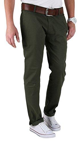TAZZIO Herren Chinos Hose Worker Slim in vielen Farben und Größen Dunkelgrün