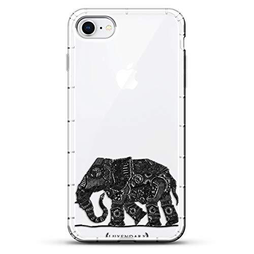 Luxendary Designer, 3D-Druck, modisch, hochwertig, Air-Pocket Kissen, Tiere: Der gehende Paisley-Elefant, farblos Paisley Designer