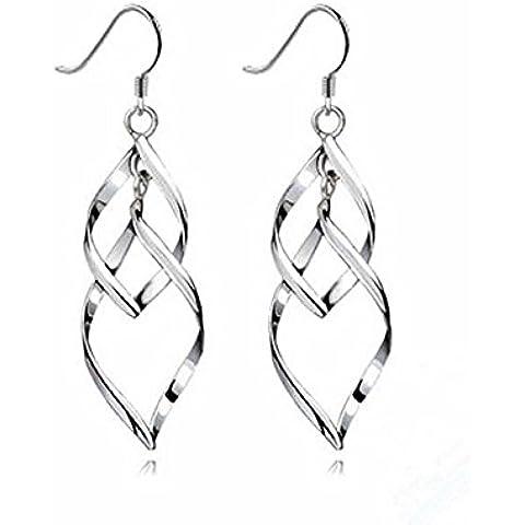 Saranno le donne portafortuna, in argento Sterling 925orecchini pendenti orecchini gancio orecchini pendenti Marquise anelli Design