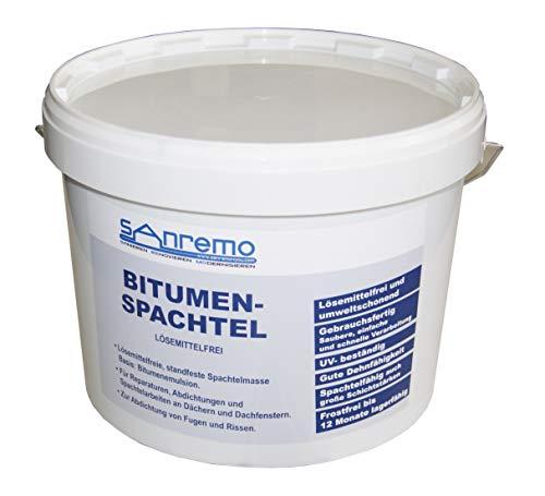 (2,78€/kg) Sanremo BITUMENSPACHTEL lösemittelfrei Spachtelmasse Bitumen Abdichtung 5kg
