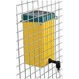 Abbeveratoio Conigli Automatico a Goccia in Plastica e Acciaio Inox, con Gancio da Appendere alla Rete, Capacità 1 litro