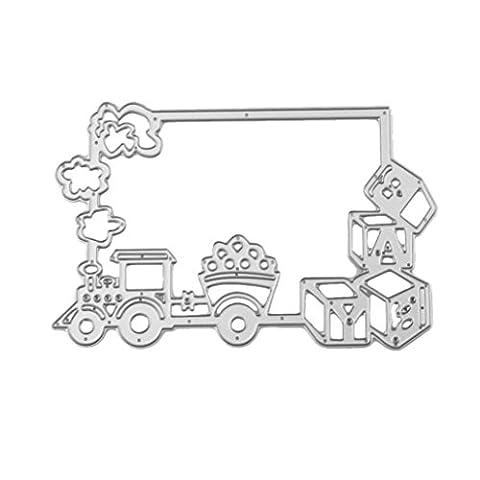 sixcup® 1Märchen Kreativ DIY Metall Formen Schablone DIY Scrapbooking Prägung Album Papier Card Craft Metall schneiden Schablonen für Kinder Mini-train