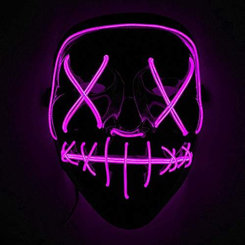 Immoch Halloween LED Masken Erwachsene LED Mask für Party Kostüm, Weihnachten, Cosplay Grimace Festival Party Show ()