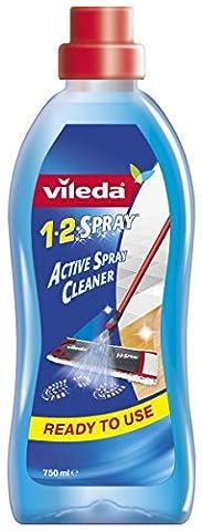 Vileda -Solution Nettoyante pour Balai 1.2.Spray - 750 ml - Lot de 2