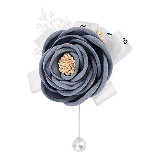 AUNMAS Künstliche Corsage handgemachte rosa Perlen Leinen Stoffe Brosche Bouquet für Braut Brautjungfer Boutonnieres Hochzeit Party Dekoration(2#)
