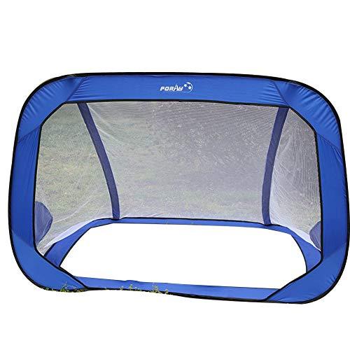 Tragbares faltbares Fußballtor 2 in 1 Fußballtor mit doppeltem Verwendungszweck Jugendfußballtor Blau
