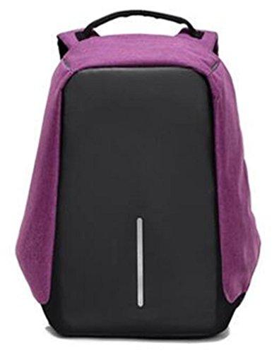 YANFEI Tragbare Anti-Diebstahl-Laptop-Rucksack Mann und Frau Student Taschen Reisen Rucksäcke Mode leichte hohe Kapazität atmungsaktiv , black purple