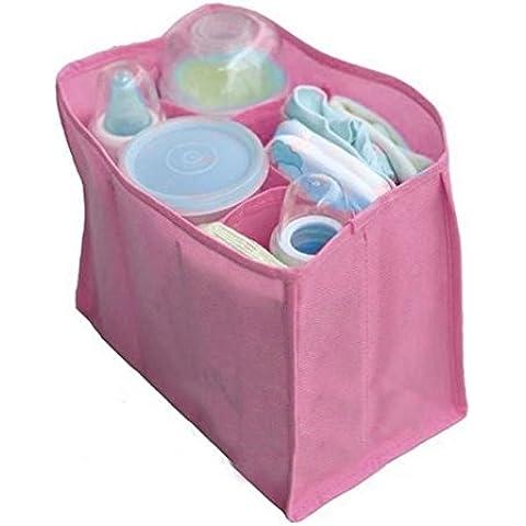 Pañales de bebé Youpin agua cambiador de pañales bolsa de almacenamiento organizador divisor (rosa 5