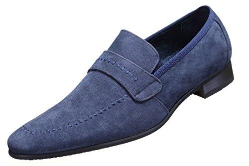 Reservoir Shoes - Chaussure Derbies Anibal Mocassin Marine Bleu