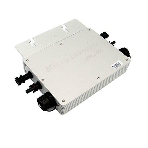 ECOWORTHY 600W DC24V-AC230V Waterproof On Grid Tie Power Inverter For Home PV Solar System (Solar Grid Pv Tie)