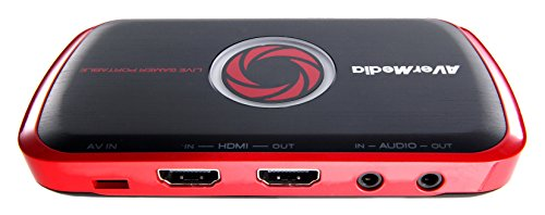 AVerMedia Live Gamer Portable (LGP) - Lanciati su YouTube & Twitch - Scheda di acquisizione video USB, per registrare, fare streaming, condividere gameplay PS4 / PS3, Xbox One, Nintendo Switch, Wii U, Full HD 1080p, Codificatore Hardware H.264, Portatile, Registra anche su scheda SD (C875)