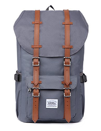 Outdoor Reisen Wanderrucksack 17 Zoll Laptop Schulrucksack, KAUKKO Taschen für Herren Damen mit 2 Seitentaschen (NRed)