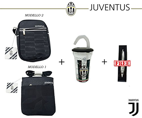 SET UFFICIALE JUVENTUS FOOTBALL CLUB - BORSELLO + BICCHIERE + PENNA - JUVE BORSELLO MODELLO 1
