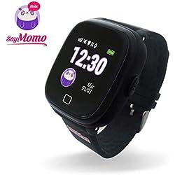 SoyMomo H20 Telefono pequeño y Seguro para niños con GPS. (Negro)