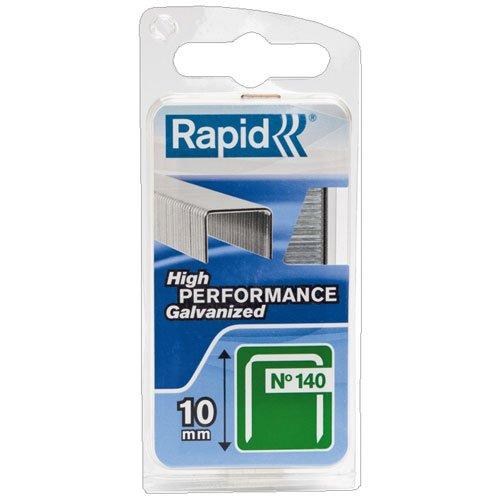 Rapid, 40109515, Agrafes N°140, Longueur 10mm, 648 pièces, Pour les travaux de construction et d'isolation, Fil galvanisé, Haute performance
