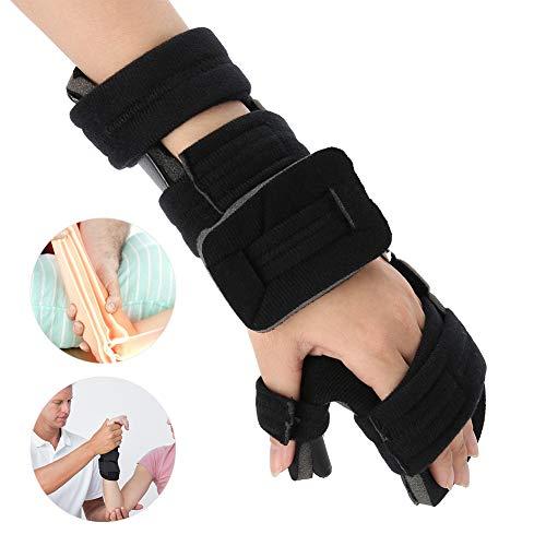 Handgelenkschiene, einstellbare Unterstützung für harte Frakturtraining Verstauchung Dislokation Arthritis Tendinitis Ruhende Funktionsstütze(Left S)