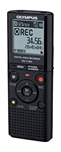 Olympus VN-713PC Voice Recorder - 4GB Flash Memory, WMA/MP3, Black