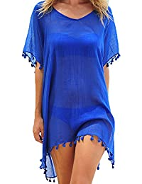 aa863dccff62 Women Tassel Chiffon Swim Bathing Suit Beachwear Cover Up