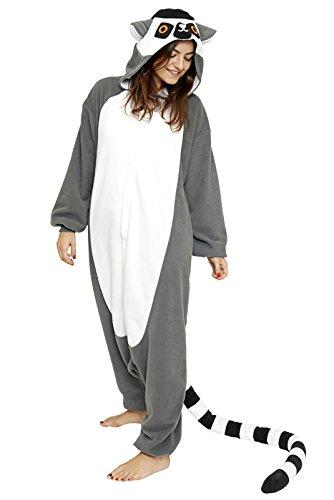 SAZAC Herren Lemur Strampelanzug, Grau (Grey), Medium