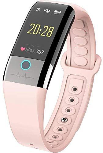 Unbekannt Fitness Tracker, Smartwatch, PPG + EKG, Blutdruck-Herzfrequenzmessung, IP67 Waterproof Pink
