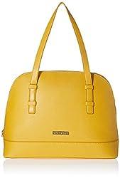 Caprese July Women's Satchel Handbag (Yellow)