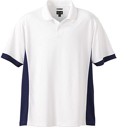 adidas Golf A28 Climacool Mens Pique Colorblock Polo - White/Navy - XXX-Large (Sleeve Shirt Pique Knit)