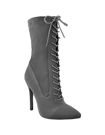 Calzature & Accessori neri con stringhe per donna Fashion thirsty Real Distancia Barato Línea De Meta 0x7F5