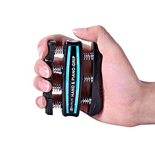 Zexa Finger Grip Exerciser - 2 STÜCKE Strengther Finger Power Trainer Greifer für Gitarre und Piano Coach (Coach Hat)