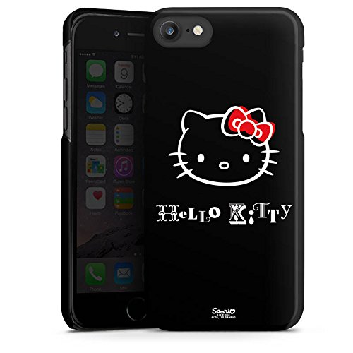 Apple iPhone X Silikon Hülle Case Schutzhülle Hello Kitty Merchandise Fanartikel Love Hard Case schwarz