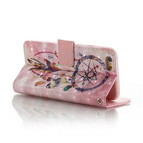 iPhone 6s Plus Custodia, Copertura iPhone 6S Plus/6 Plus, | PU Portafoglio in pelle Progettato case di Slot per schede stare | | Diamanti Bling rosa | Polvere di scorrimento antigraffio Cover rosa 4