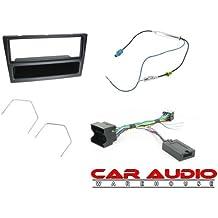 T1-Audio T1-CTKVX14–Opel Corsa hasta 2005completo para radio de coche para montaje de bacas, CT24VX01, CTSVX002, CT27AA14, CT22VX01, negro marco Panel, adaptador de mando del volante plomo, antena y extracción de estéreo de coche llaves. Vehículos con CAN BUS solo