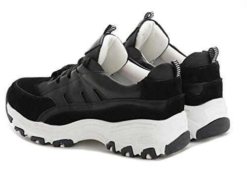 Scarpe sportive donna pizzo scarpe casual scarpe da corsa ascensore Autunno Ms. Black