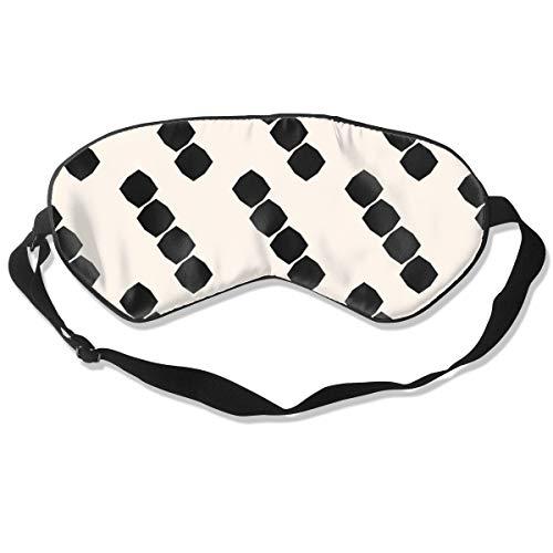 Wrution achteckige Formen, individuelle Schlafmaske, Augenmaske, verstellbare Träger, super weich für Damen und Herren