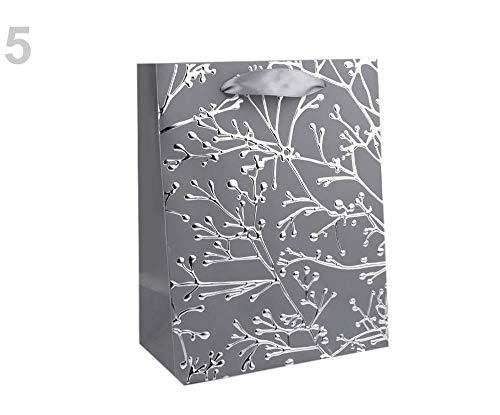 1stück 5grau Ezüst Kleine Geschenktasche, Geschenktüten Und Geschenktaschen, Geschenksäckchen, tüten -boxen, Dekoration Glitter Dot Satin