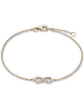 s.Oliver Damen-Armband 925 Silber teilvergoldet Zirkonia transparent 50806