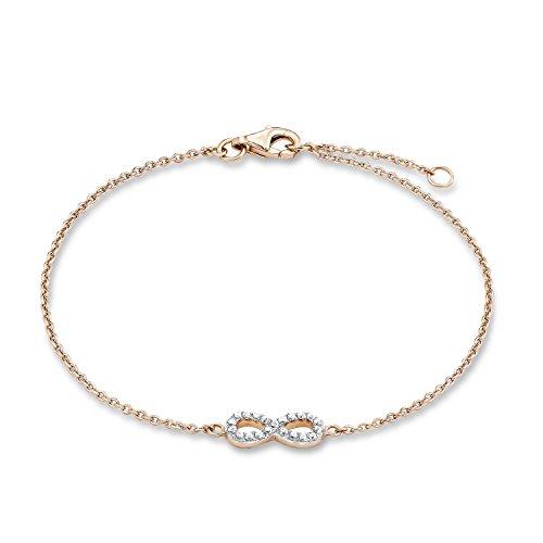 s.Oliver Damen-Armband 925 Silber teilvergoldet Zirkonia transparent 19 cm - 508063
