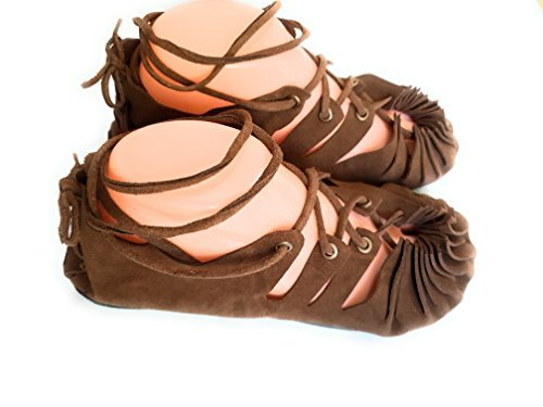 (Indianstore24 Bollywood Indische Ledersandalen Goa Hippie for Women's with Brown Color - for Party, Evening,Office Purpose,Casual, Ethnic (38))
