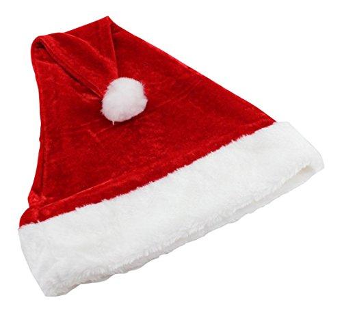 Ultra 5 x sombrero de Santa de mullido color blanco y rojo de lujo para niños sombreros pelusa padre Navidad perfecto para accesorios fiesta 38x29cm